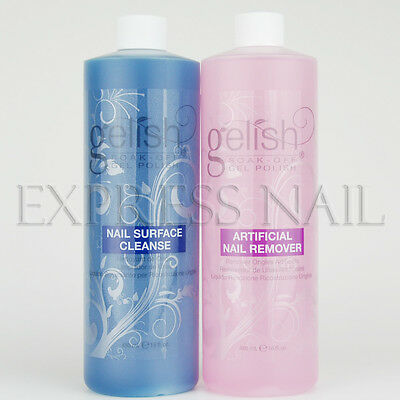 Nail Harmony Gelish Soak Off Gel Polish Remover and Cleanser 16oz / 480mL Choose