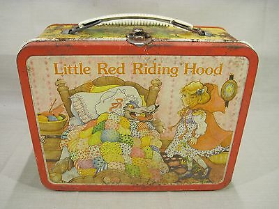 Vintage  LITTLE RED RIDING HOOD Metal Lunchbox No Thermos