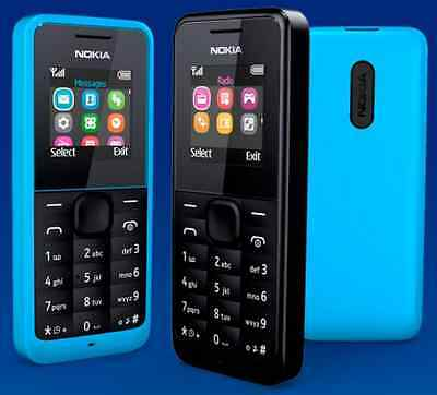 Brand New Nokia Dual Sim 105-BLACK (Unlocked) 2 Sim Dust Free Mobile Phone