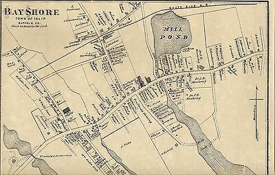 Bayshore Brentwood Hauppauge Bohemia NY 1873 Maps with Homeowners Names Shown