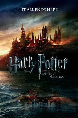 HARRY POTTER AND THE DEATHLY HALLOWS Movie Poster  - Hogwarts Full Size 24x36