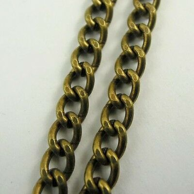 5M Antiqued Bronze Color Brass Chains Pendant Jewelry Findings 5*5*2mm 30264