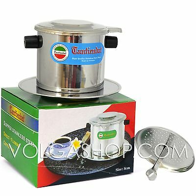 Vietnamese Coffee Filter - Stainless Steel Phin Press Maker Size: 6-7- 8 -9- 10