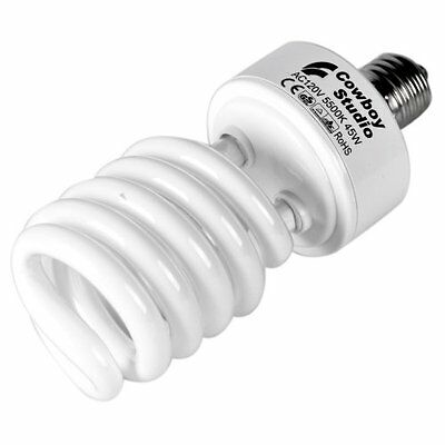 CowboyStudio 45W Compact Fluorescent CFL Daylight Balanced Bulb with 5500K Color