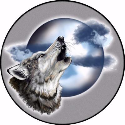 Spare Wheel Cover Sticker WOLF BARKING MOON off road 4x4 Land Rover Rav Jeep