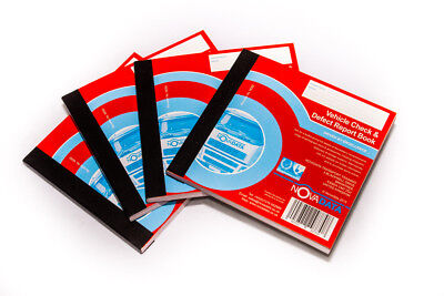 4 x Novadata Vehicle Check & Daily Defect Report Book Pad 50 duplicate pages