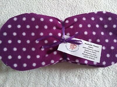 Easy Peasy value washable Fleece Nappy Liners x 15 Purple Star Micro Fleece