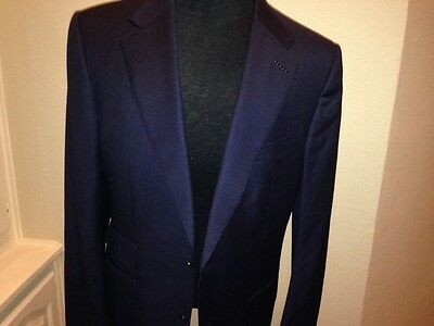 New Tom Ford  Blue Wool Suit Size 46L (EU 56)  HAND MADE IN SWITZERLAND