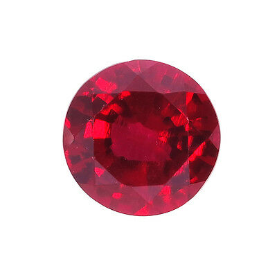 Lab Created Hydrothermal Red Ruby AAA Round Shape Loose stone (2mm - 13mm)