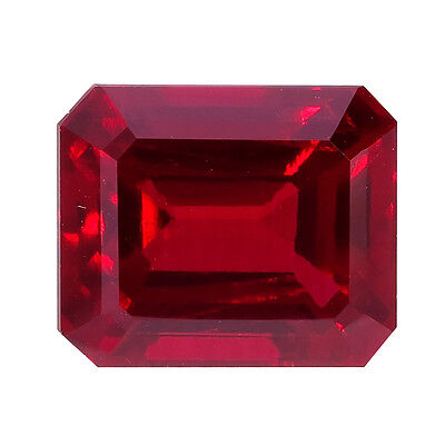 Lab Created Hydrothermal Ruby AAA Octagon shape Loose stone (4x2mm-16x12mm)