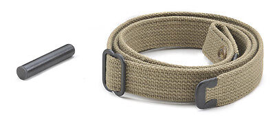 USGI WW2 .30 M1 CARBINE SLING and OILER KHAKI