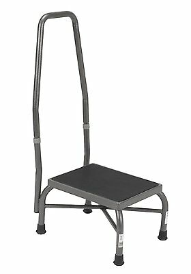 Drive Medical Heavy Duty Bariatric Footstool with Handrail and Non Skid Rubber P