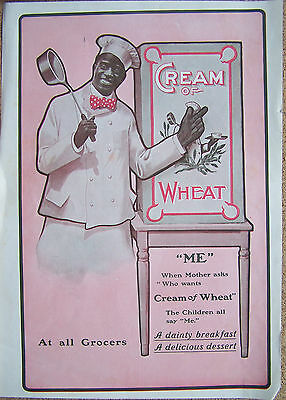 """Cream Of Wheat Ad 10""""x15"""" When Mother Asks Who Wants Cream Of Wheat..me"""
