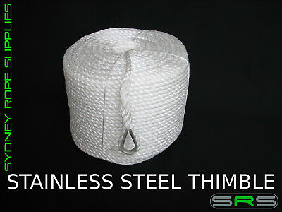 220Mtrs X 8Mm High Strength Anchor Rope With Stainless Steel Thimble