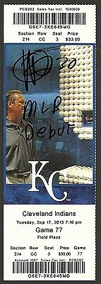 Yordano Ventura Ip Auto Signed Ticket 9/7/2013 - Mlb Debut - Kc Royals