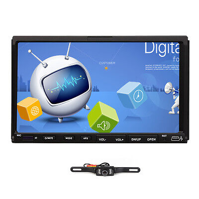 """Double 2 Din 7"""" Car DVD CD MP3 Player Touch Screen In Dash Stereo Radio+Free Cam"""