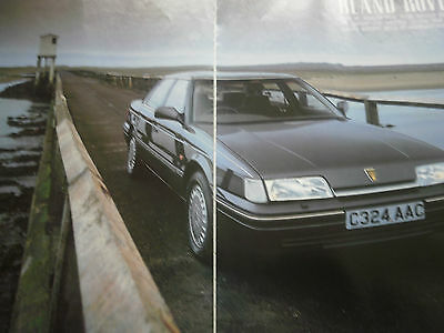 ROVER 800 - 9 page COLOUR ARTICLE / REPORT