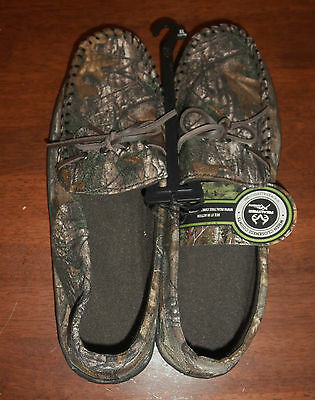 Mens REALTREE Xtra Green Indoor/Outdoor Slippers Moccasin Style Size XL 13/14