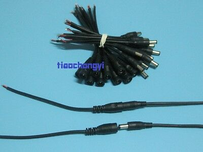 2/10/50pcs 5.5X2.1mm DC Power Female Male Connector Cable Pigtail Plug Wire CCTV