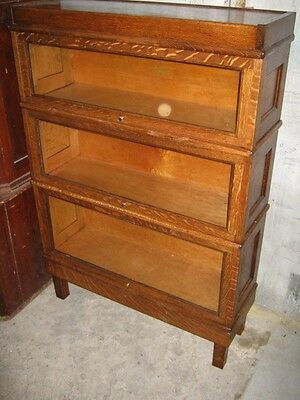 """Oak """"Macey"""" 3 Stack Bookcase w/ Paneled Ends"""