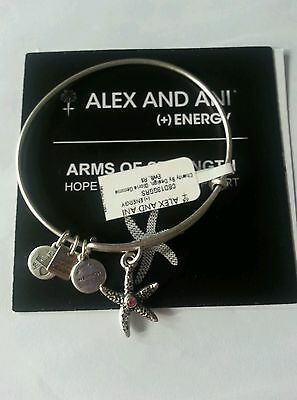 Alex And Ani Arms Of Strength Breast Cancer  Bracelet NWT Pink Starfish Rare