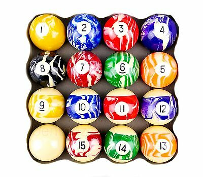 "Premium Marbled Kelly Ball Set 2"" Snooker Billiards Pool By Formula"