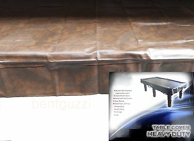 Brown Heavy Duty 8ft TABLE COVER Pool Snooker Billiards
