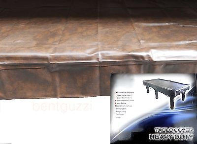 QUALITY Brown Heavy Duty 8ft TABLE COVER - Pool Snooker Billiards Balls