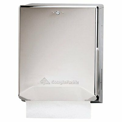Georgia-Pacific 56620 Chrome Combination C-Fold/ Multifold Paper Towel Dispenser