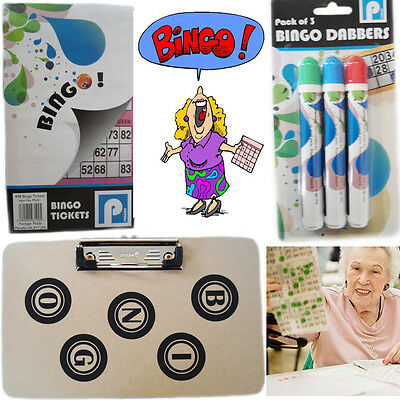 Bingo Dabbers Markers Pen Tip Felt Set Tickets Books Board Game Red Blue Green