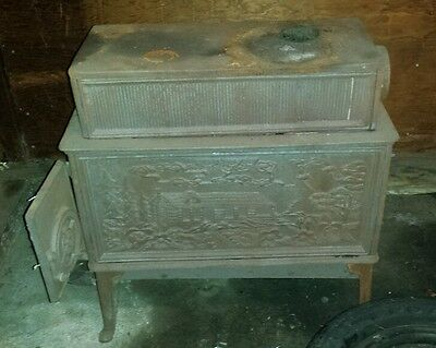 70s.Vintage. Cast iron wood burning stove/fireplace. Jotul. In Stratford, CT
