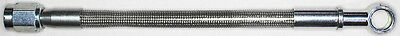 "AN-3  30"" long, stainless steel braid hose, ST X ST banjo 5/16""-8M  CC"