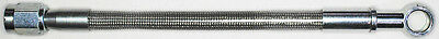 "AN-3  22"" long, stainless steel braid hose, ST X ST banjo 5/16""-8M  CC"