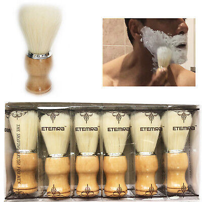Men's Soft Shaving Brush Pure Bristal Hair Removal Barbers Accessory Wooden Grip