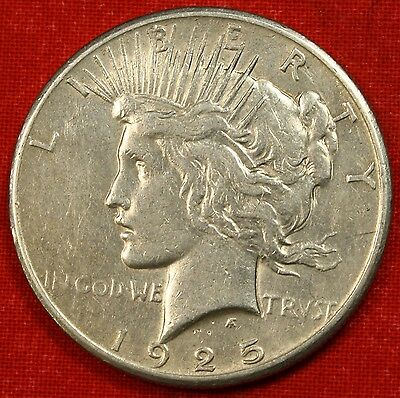 1925-P PEACE DOLLAR XF 90% SILVER COLLECTOR COIN CHECK OUT STORE L@@K *$ PE83