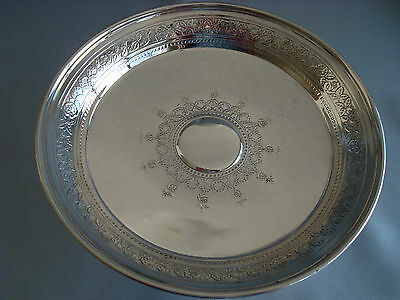TIFFANY sterling silver ~ ETCHED EMBOSSED TAZZA PEDESTAL DISH ~ OUTSTANDING!!