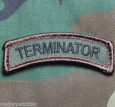The Terminator Tab Arnold I'll Be Back Usa Military Hook Forest Morale Patch
