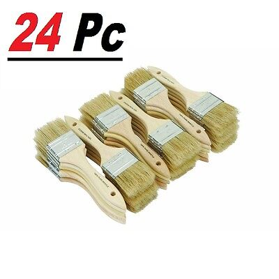 """24 Chip Brush Brushes Perfect Adhesives Paint Touchups Sizes 0.5"""" 1"""" 1.5"""" 2"""" 3"""""""
