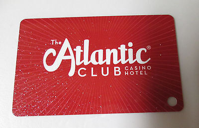 PLAYERS SLOT CARD, RED,  ATLANTIC CLUB. NEW, MINT. Atlantic City, NJ