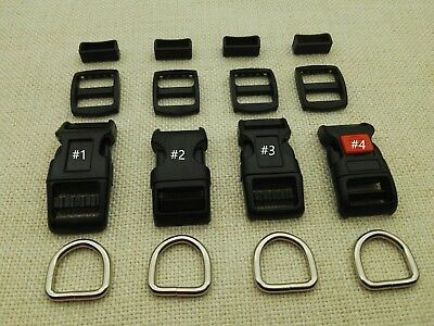 10 Sets, 5/8'' (15mm) Dog Collar Hardware Kits- 4 Styles choices