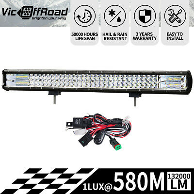 28inch LED Light Bar Philips Spot Flood Combo Offroad Work Driving 4WD