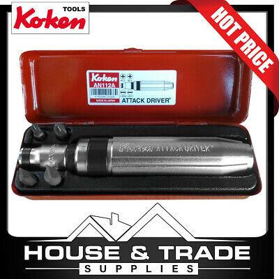 """Koken 6 Piece 5/16"""" Impact Driver Attack Driver AN112A Made In Japan"""