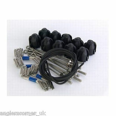 Gemini System 100 Assembly Kit Blue Heads//Standard Grips//Long Tail Wires x10 Ideal for 5oz