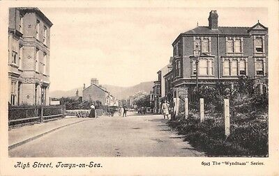 WALES - TOWYN on SEA, The High Street - used 1914