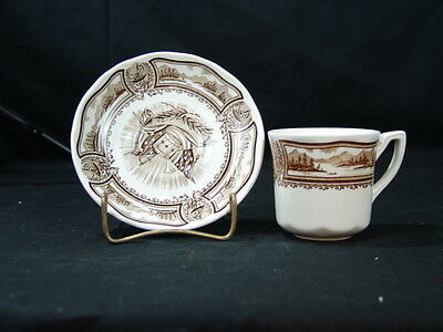 J & G Meakin Style House Americana (Brown) Cup & Saucer Set
