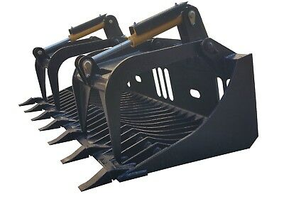 "New 72"" Rock Grapple Bucket Skidsteer Attachment Quick Attach Free Shipping!"