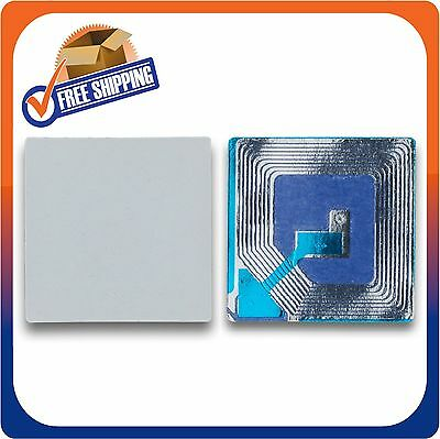 6000 Paper Security Label 1.5X1.5 Inch Rf 8.2Mhz White Eas Checkpoint Compatib