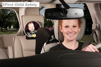 Diono Easy View Back Seat Mirror Baby/Child rotates 360 degrees NEW DESIGN