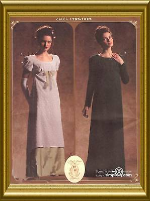 PATTERN for Regency gown Simplicity 4055 Pride n Prejudice dress 14-20 Empire