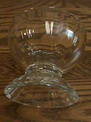 COLLECTIBLE Libbey Glass compote pedestal footed candy sauce candle dish see ad!